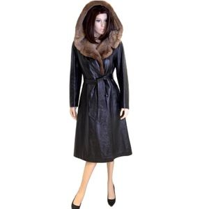 Rajac Leathers Long Vintage Fur Jacket Coat